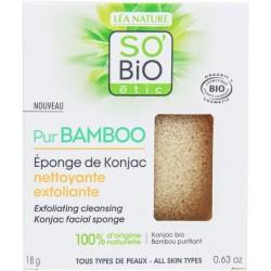 PUR BAMBOO Houbička konjac s bambusem na exfoliační čištění pleti