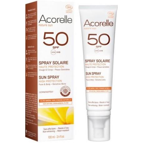 ACORELLE Opalovací sprej na obličej tělo SPF 50