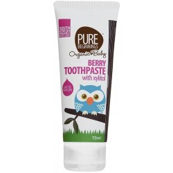 Zubní pasta pro miminka bez fluoridů s xylitolem a příchutí malin