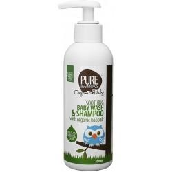 Zklidňující tekuté mýdlo a šampon pro miminka s baobabem