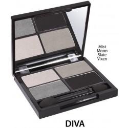 QUATRO Bio oční stíny «Diva»