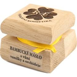 Bambucké tělové a pleťové máslo s vůní vanilky a orchideje