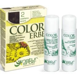 «Color Erbe» Barva na vlasy 02 «Tmavá kaštanová»