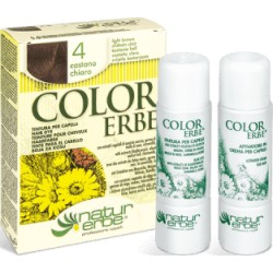 «Color Erbe» Barva na vlasy 04 «Světle kaštanová»