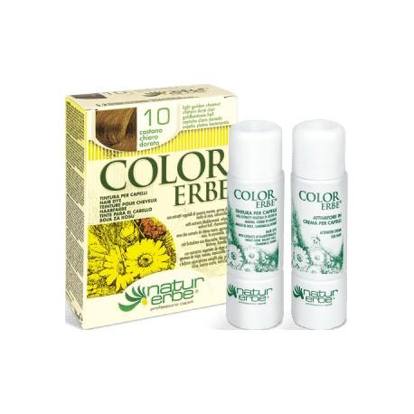 COLOR ERBE Barva na vlasy 10 «Světlý zlatavý kaštan»