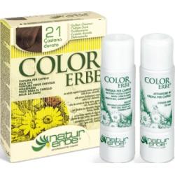 «Color Erbe» Barva na vlasy 21 «Zlatavě kaštanová»