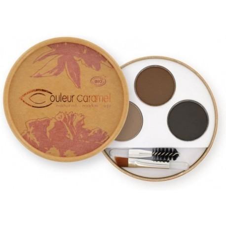 Couleur Caramel Paletka na obočí pro brunetky